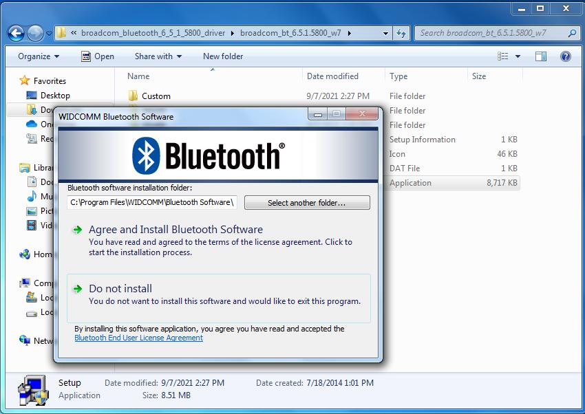 bluetooth program for windows 7