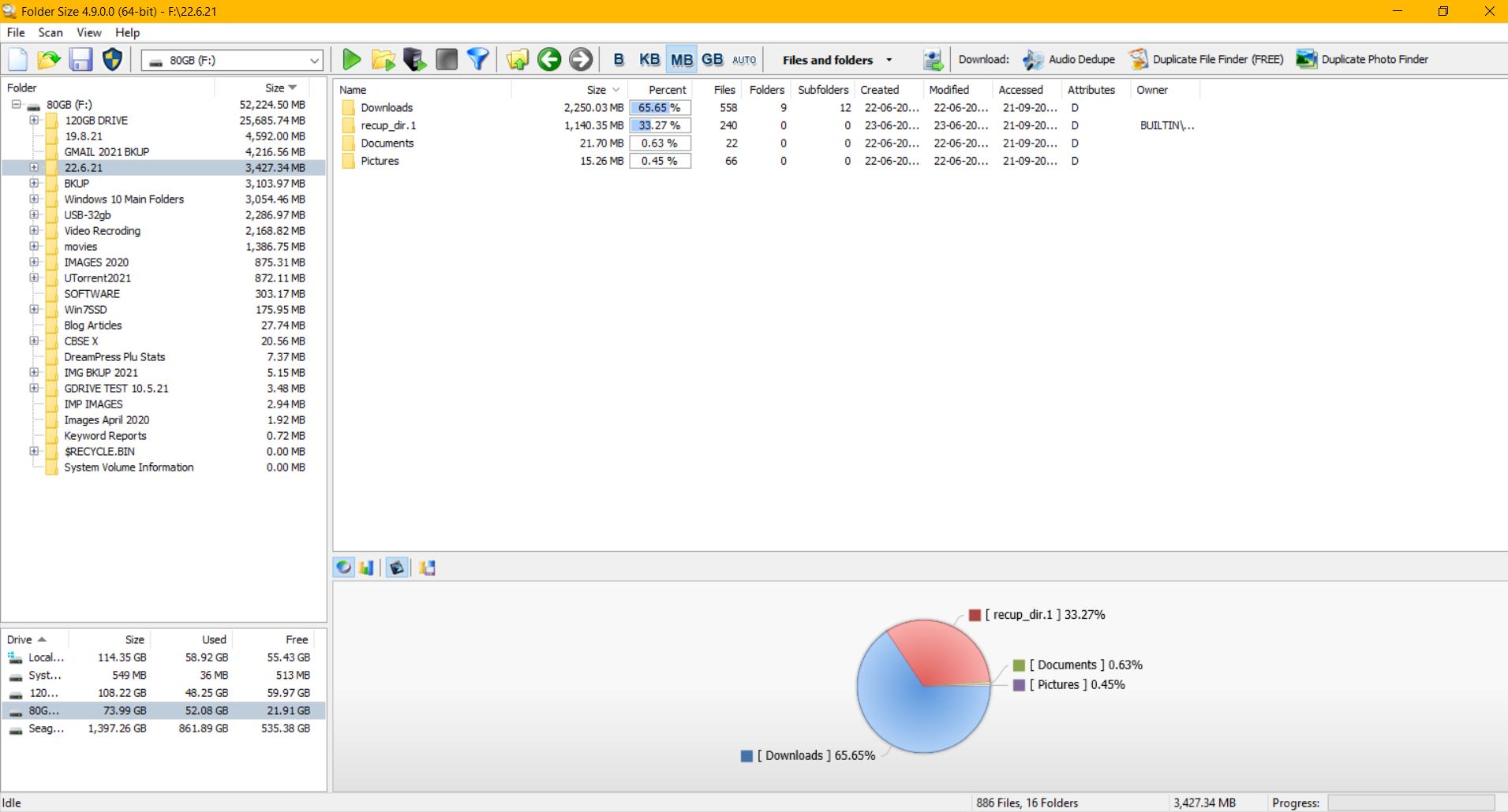folder size tool in windows 10